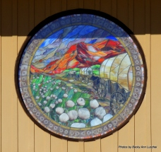 Just a closer look at this beautiful stained glass window.