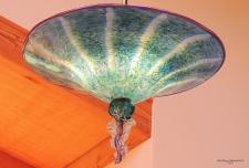 A unique plate chandelier....