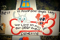 Epitaphs of dearly departed furry felines.....