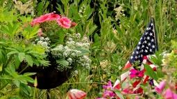 Basket and flag...