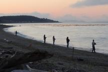 Beach Casting for Salmon