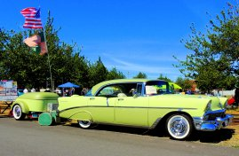 '56 Chevy Belair traveling in style!