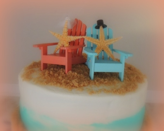 Beachy Wedding Cake: Top 20% for the day of 1/16/16 award...
