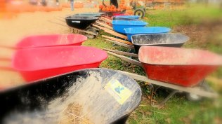 Parked Wheelbarrows: Top 20% award for the day of 2/3/16...