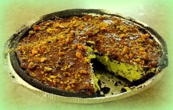 Dark Chocolate Avocado Tart Cut