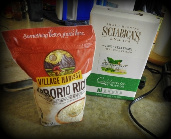 Aborio rice and olive oil